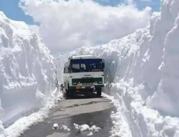 Rohtang Pass is close after a snowfall