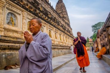 Bodh Gaya is the best known among the sacred places related to Buddhism